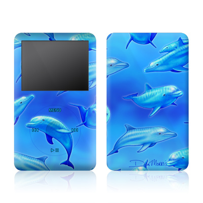 iPod Video (5G) Skin - Swimming Dolphins