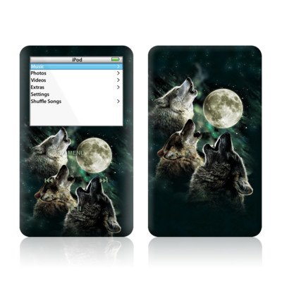 iPod Video (5G) Skin - Three Wolf Moon