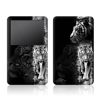 iPod Video (5G) Skin - White Tiger