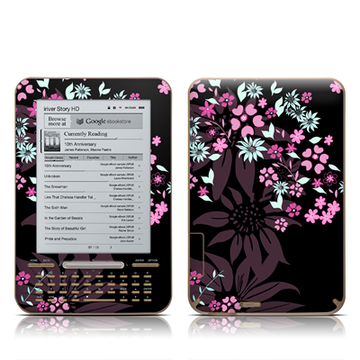 iRiver Story HD E-Reader Skin - Dark Flowers