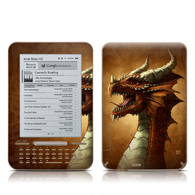 iRiver Story HD E-Reader Skin - Red Dragon