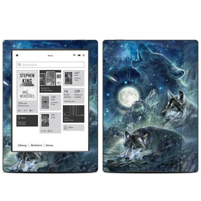 Kobo Aura H20 Skin - Bark At The Moon