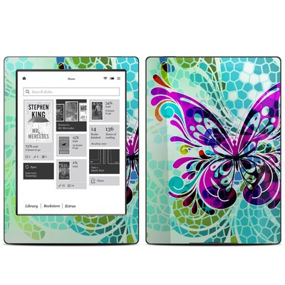 Kobo Aura H20 Skin - Butterfly Glass
