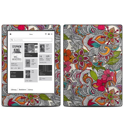 Kobo Aura H20 Skin - Doodles Color
