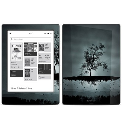 Kobo Aura H20 Skin - Flying Tree Black