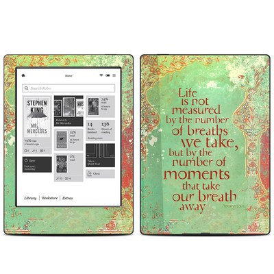 Kobo Aura H20 Skin - Measured