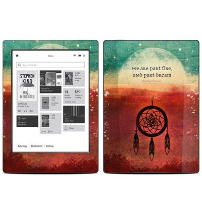 Kobo Aura H20 Skin - Part Fire