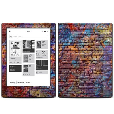 Kobo Aura H20 Skin - Painted Brick
