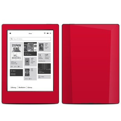 Kobo Aura H20 Skin - Solid State Red