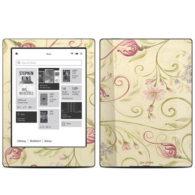 Kobo Aura H20 Skin - Tulip Scroll