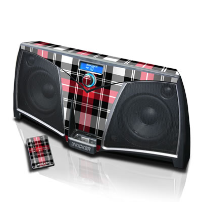 KICKER Dock Skin - Red Plaid