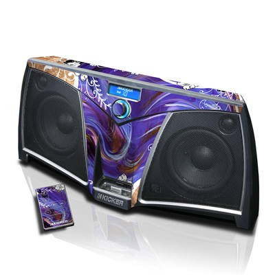 KICKER K500 Skin - Purple Waves