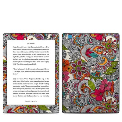 Kobo Aura One Skin - Doodles Color