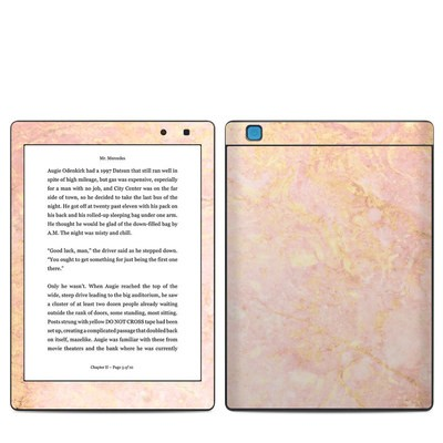 Kobo Aura One Skin - Rose Gold Marble