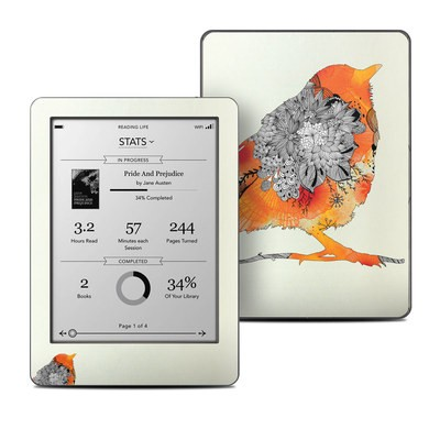 Kobo Glo Skin - Orange Bird