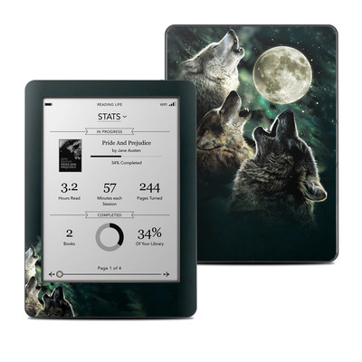 Kobo Glo Skin - Three Wolf Moon