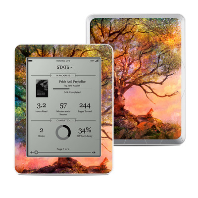Kobo Mini Skin - Fox Sunset