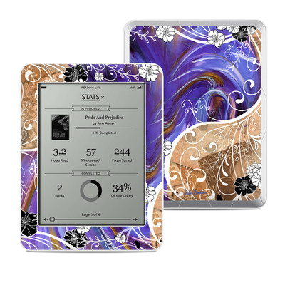 Kobo Mini Skin - Purple Waves