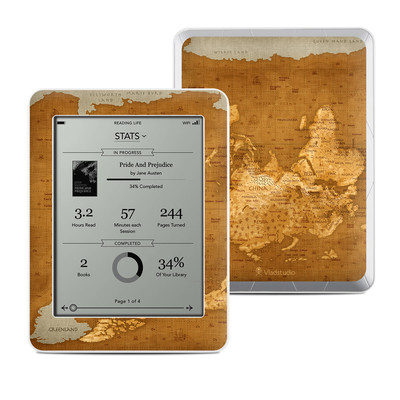 Kobo Mini Skin - Upside Down Map