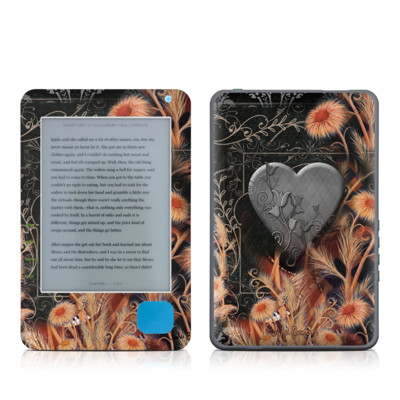 Kobo eReader Skin - Black Lace Flower