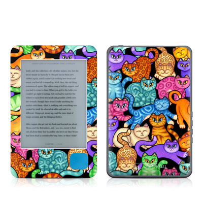 Kobo eReader Skin - Colorful Kittens