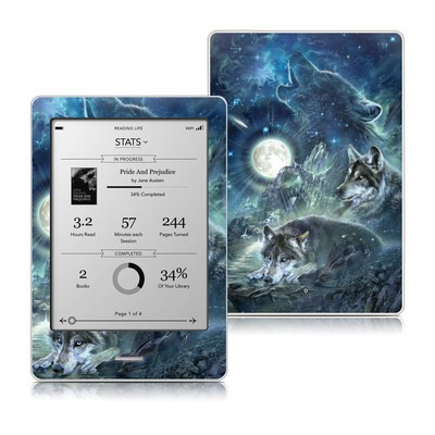 Kobo Touch Skin - Bark At The Moon