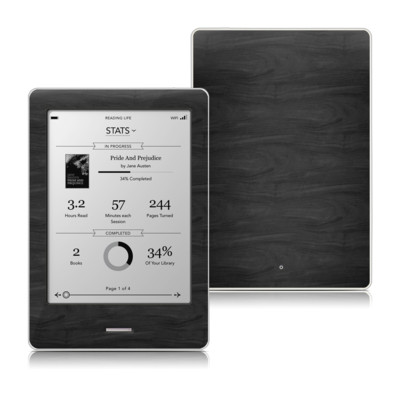Kobo Touch Skin - Black Woodgrain