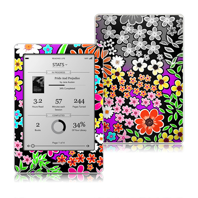 Kobo Touch Skin - A Burst of Color
