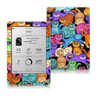 Kobo Touch Skin - Colorful Kittens
