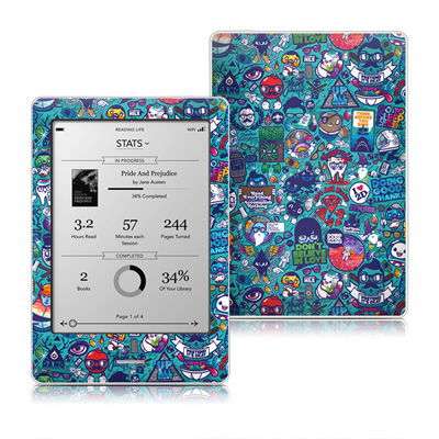 Kobo Touch Skin - Cosmic Ray