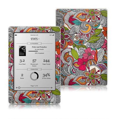 Kobo Touch Skin - Doodles Color