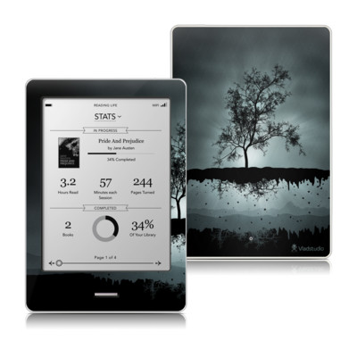 Kobo Touch Skin - Flying Tree Black