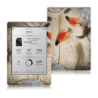 Kobo Touch Skin - Feather Dance