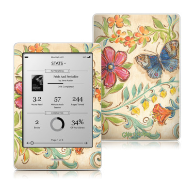 Kobo Touch Skin - Garden Scroll