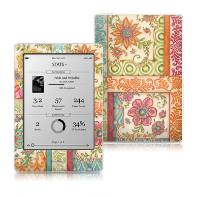Kobo Touch Skin - Ikat Floral