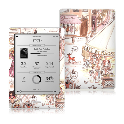 Kobo Touch Skin - Paris Makes Me Happy