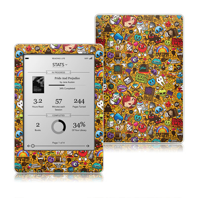 Kobo Touch Skin - Psychedelic