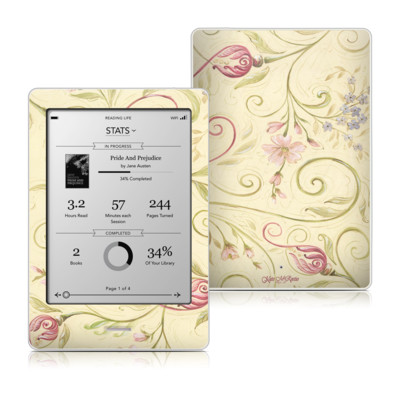 Kobo Touch Skin - Tulip Scroll