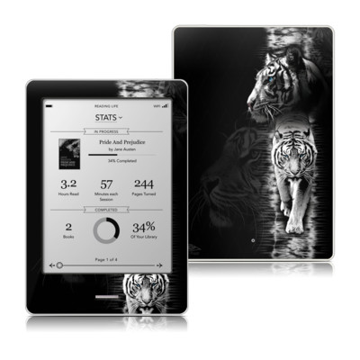 Kobo Touch Skin - White Tiger