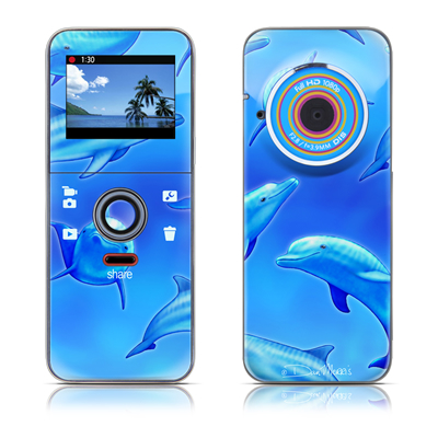 Kodak PLAYFULL Ze1 Skin - Swimming Dolphins