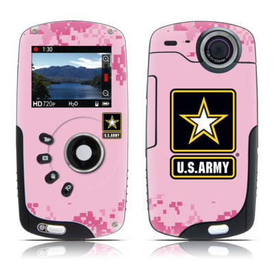 Kodak Playsport Zx3 Skin - Army Pink
