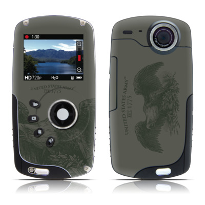 Kodak Playsport Zx3 Skin - Army Crest