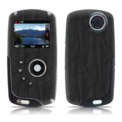 Kodak Playsport Zx3 Skin - Black Woodgrain