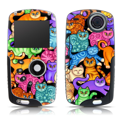 Kodak Playsport Zx3 Skin - Colorful Kittens