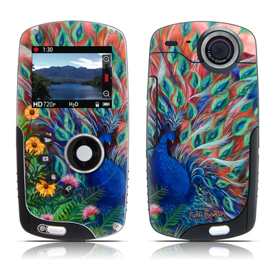 Kodak Playsport Zx3 Skin - Coral Peacock