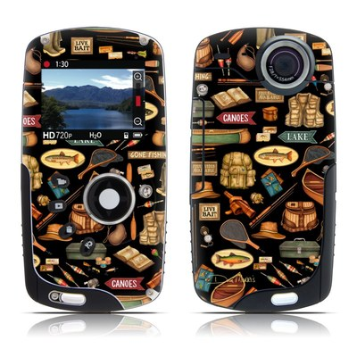 Kodak Playsport Zx3 Skin - Gone Fishing