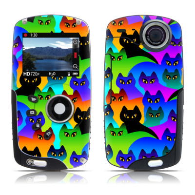 Kodak Playsport Zx3 Skin - Rainbow Cats