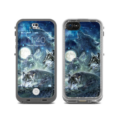 LifeProof iPhone 5C Fre Case Skin - Bark At The Moon
