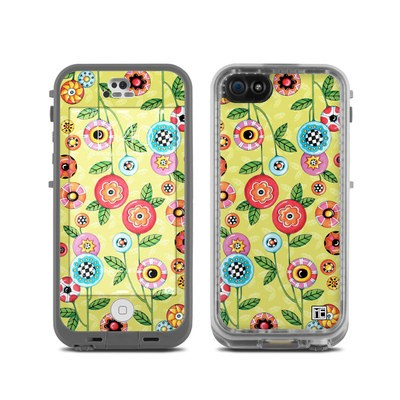 Lifeproof iPhone 5C Fre Case Skin - Button Flowers