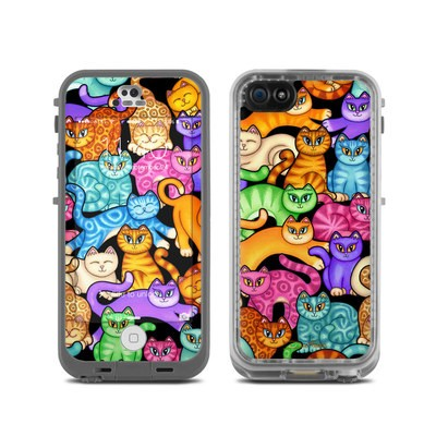 LifeProof iPhone 5C Fre Case Skin - Colorful Kittens